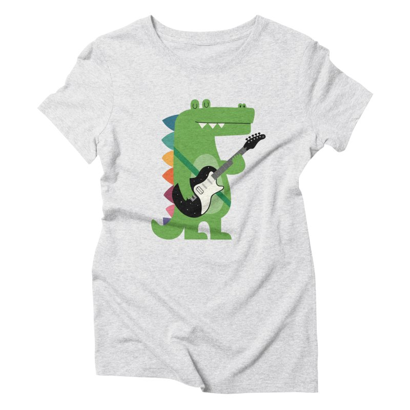 Croco Rock Women's Triblend T-Shirt by andywestface's Artist Shop