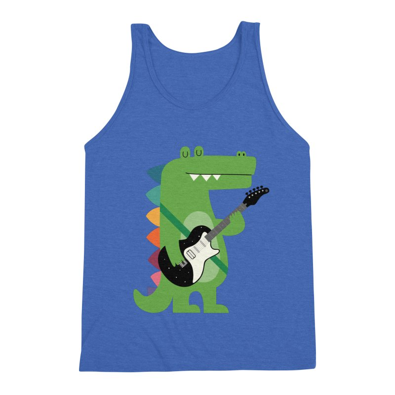 Croco Rock Men's Triblend Tank by andywestface's Artist Shop