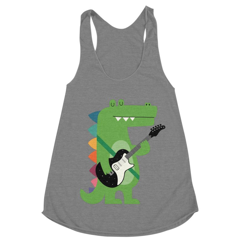 Croco Rock Women's Racerback Triblend Tank by andywestface's Artist Shop
