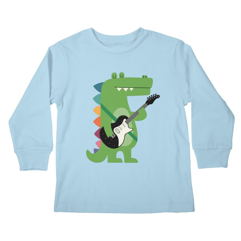 Croco Rock Kids Longsleeve T-Shirt by andywestface's Artist Shop