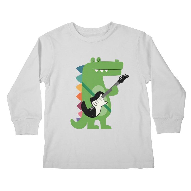 Croco Rock Kids Longsleeve T-Shirt by andywestface's Artist Shop