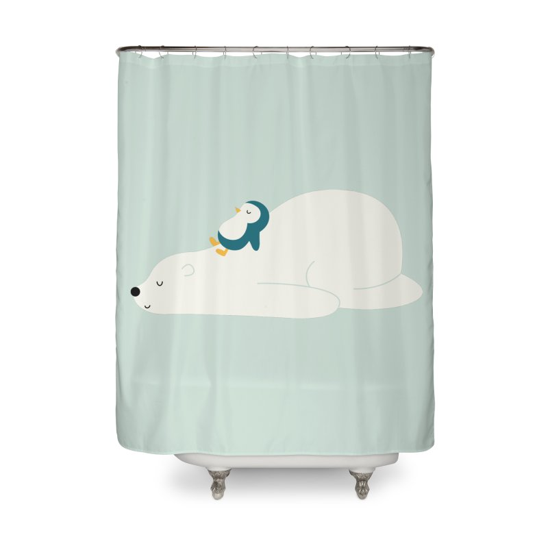 Time To Chill Home Shower Curtain by andywestface's Artist Shop
