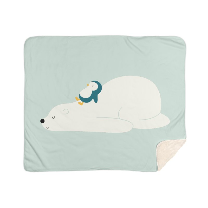 Time To Chill Home Sherpa Blanket Blanket by andywestface's Artist Shop