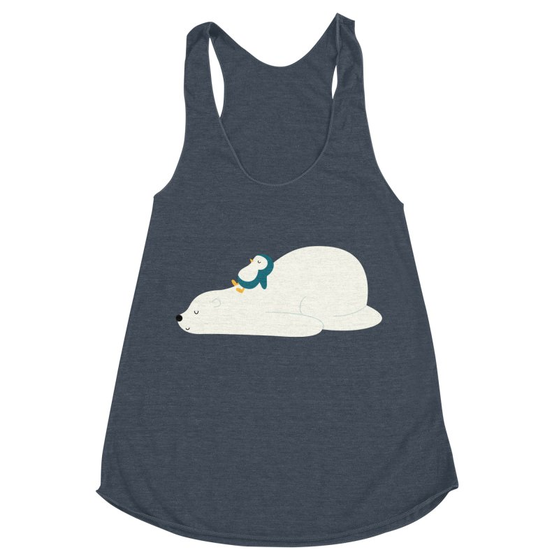 Time To Chill Women's Racerback Triblend Tank by andywestface's Artist Shop