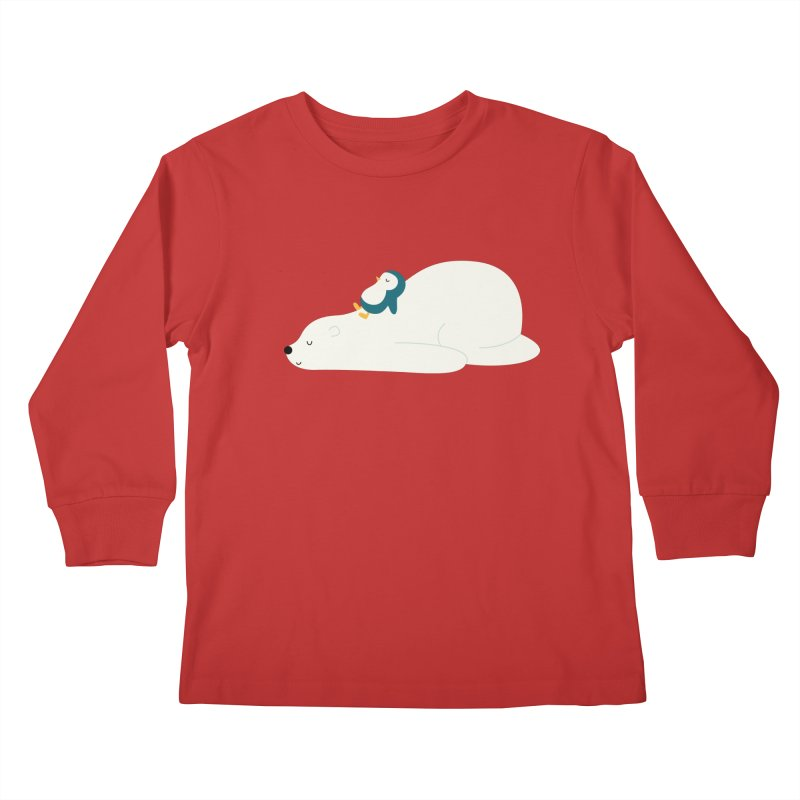 Time To Chill Kids Longsleeve T-Shirt by andywestface's Artist Shop