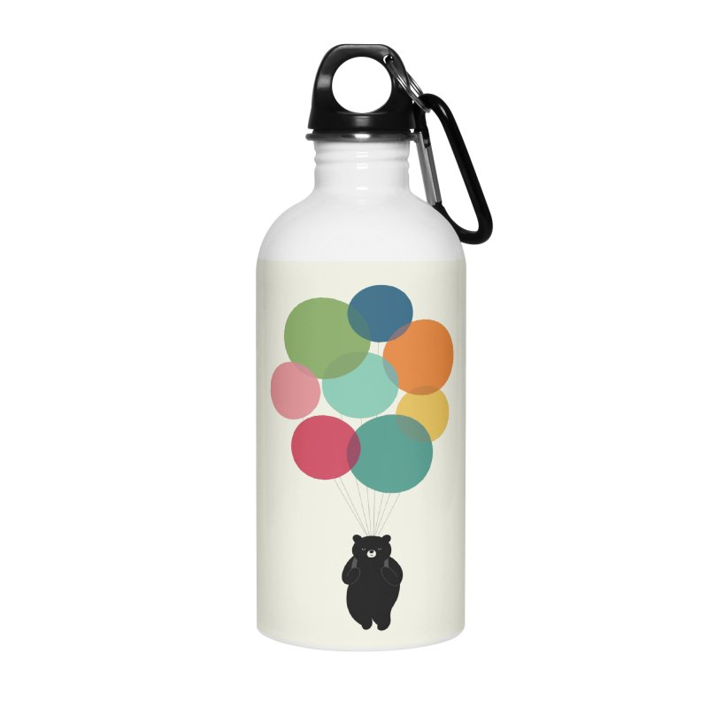 Happy Landing Accessories Water Bottle by andywestface's Artist Shop
