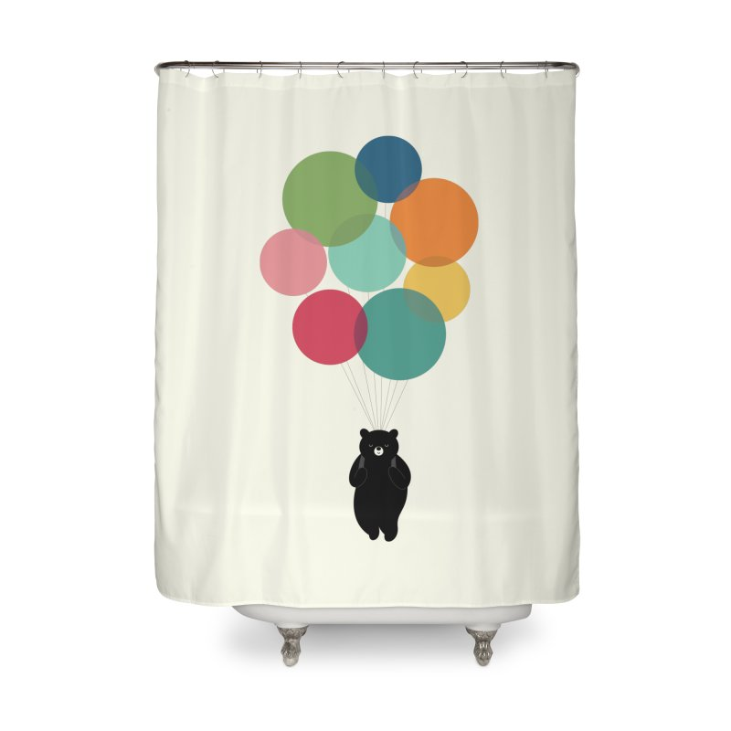 Happy Landing Home Shower Curtain by andywestface's Artist Shop