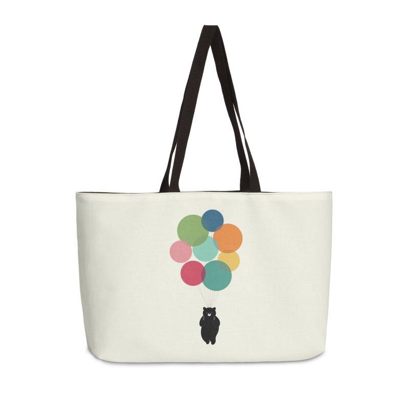 Happy Landing Accessories Weekender Bag Bag by andywestface's Artist Shop