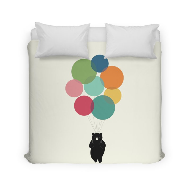Happy Landing Home Duvet by andywestface's Artist Shop