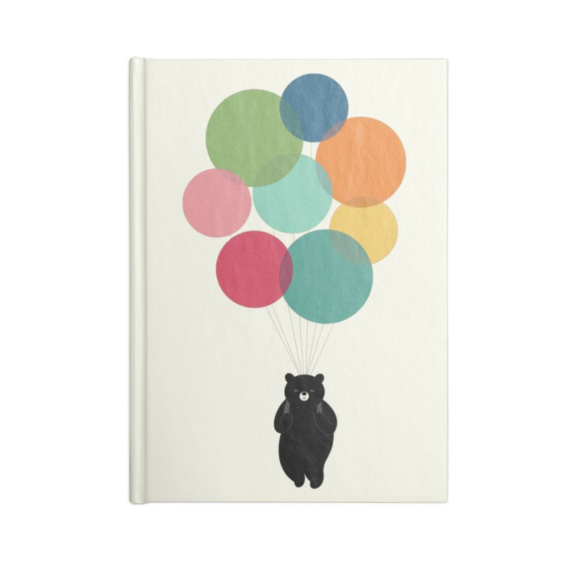 Happy Landing Accessories Lined Journal Notebook by andywestface's Artist Shop