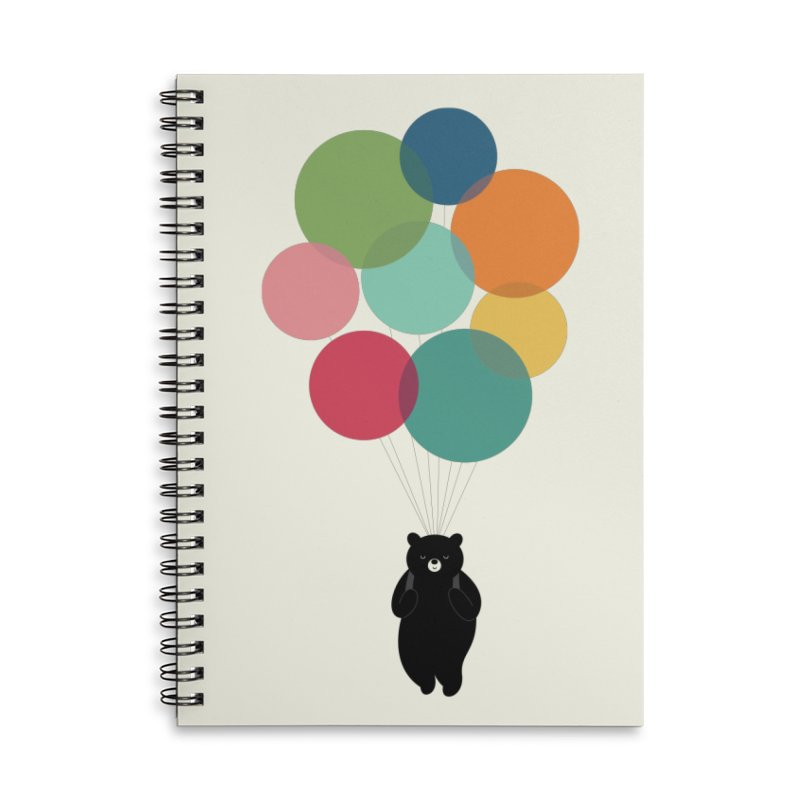 Happy Landing Accessories Lined Spiral Notebook by andywestface's Artist Shop