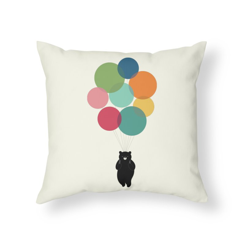 Happy Landing Home Throw Pillow by andywestface's Artist Shop