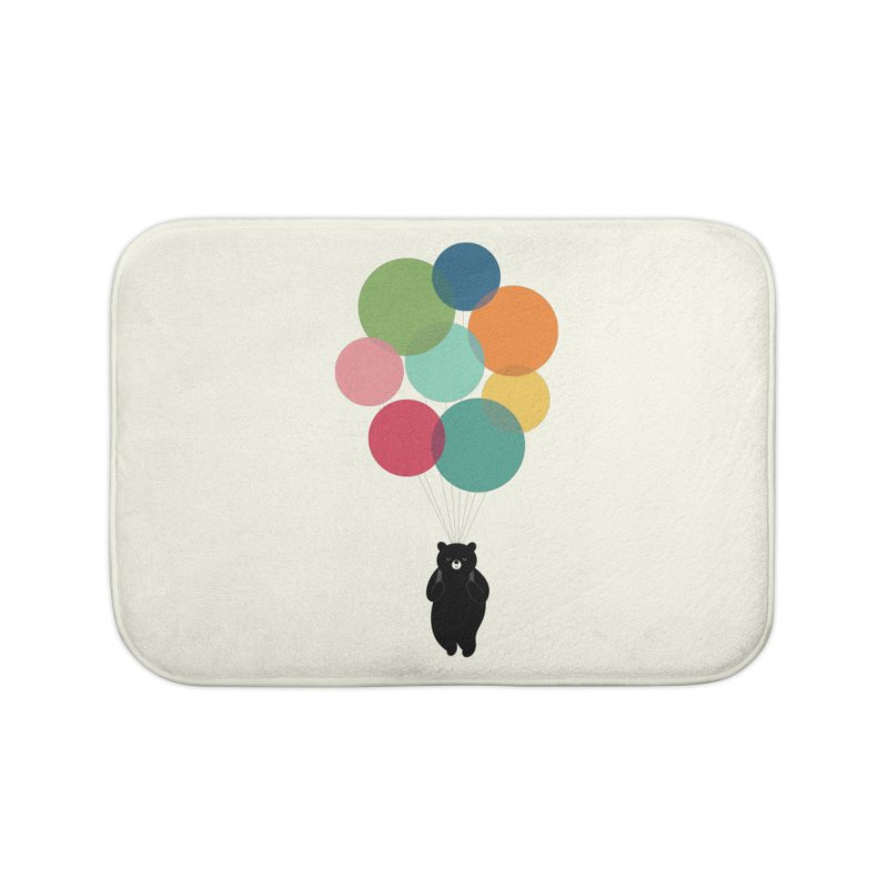 Happy Landing Home Bath Mat by andywestface's Artist Shop