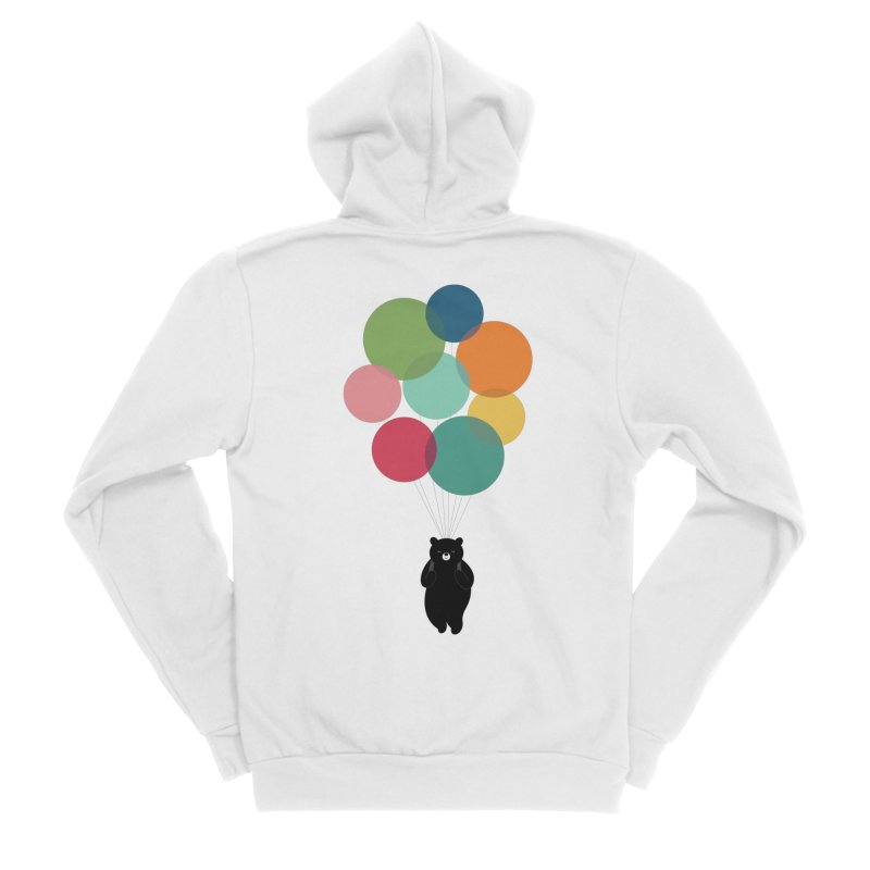 Happy Landing Men's Sponge Fleece Zip-Up Hoody by andywestface's Artist Shop
