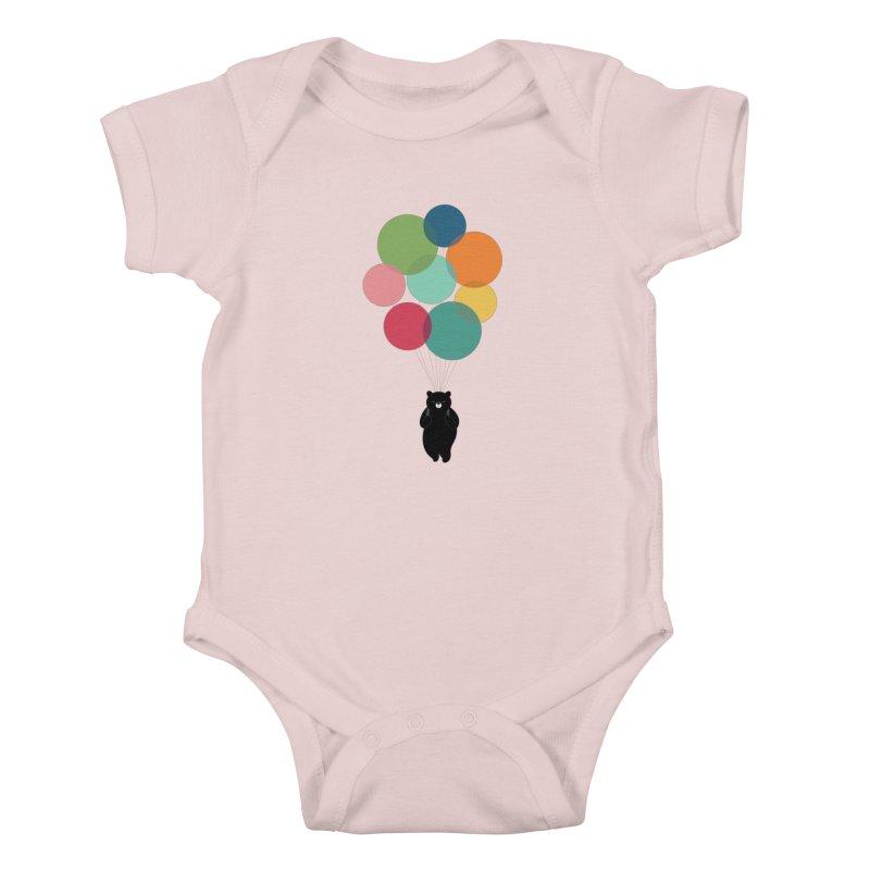 Happy Landing Kids Baby Bodysuit by andywestface's Artist Shop