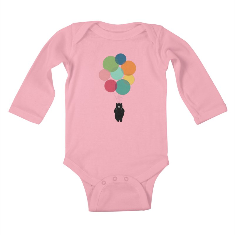 Happy Landing Kids Baby Longsleeve Bodysuit by andywestface's Artist Shop