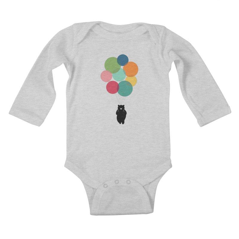 Happy Landing Kids Baby Longsleeve Bodysuit by andywestface's Artist Shop