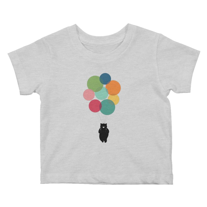 Happy Landing Kids Baby T-Shirt by andywestface's Artist Shop