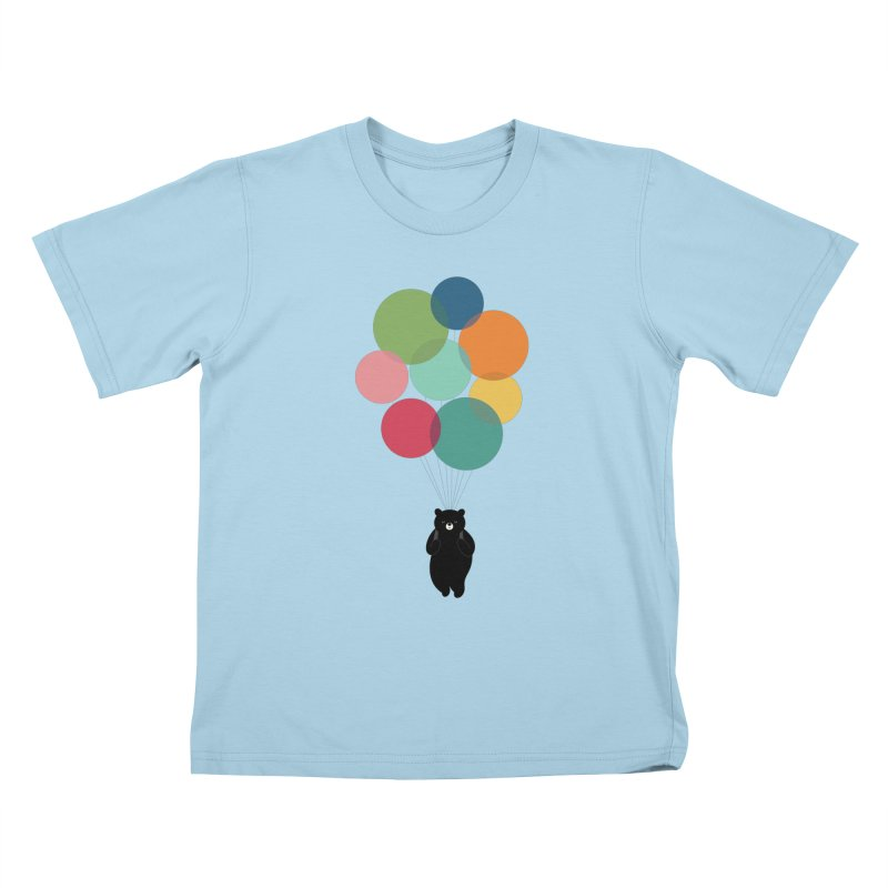 Happy Landing Kids T-Shirt by andywestface's Artist Shop