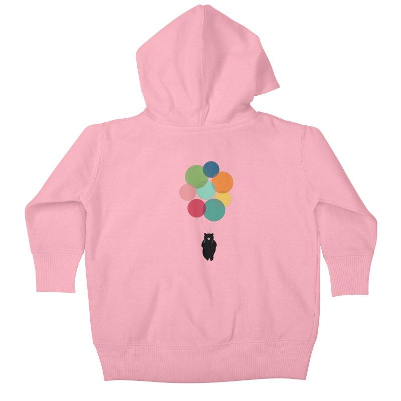 Happy Landing Kids Baby Zip-Up Hoody by andywestface's Artist Shop