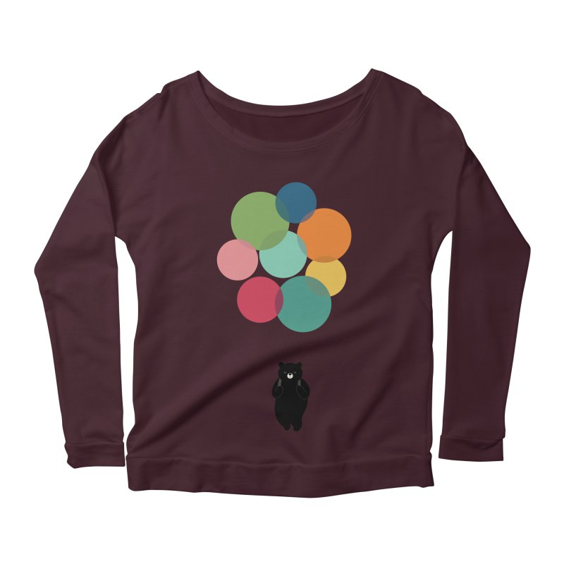 Happy Landing Women's Scoop Neck Longsleeve T-Shirt by andywestface's Artist Shop