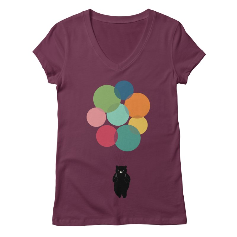 Happy Landing Women's Regular V-Neck by andywestface's Artist Shop