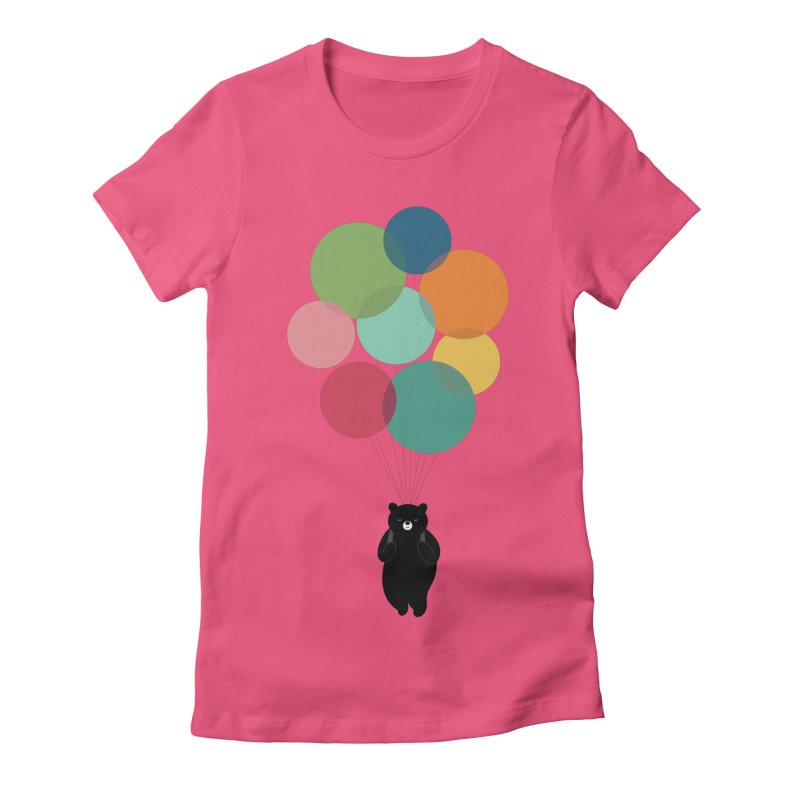 Happy Landing Women's Fitted T-Shirt by andywestface's Artist Shop