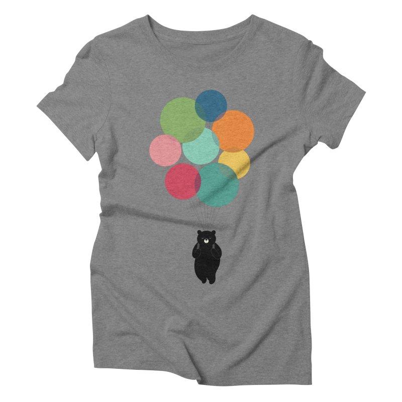 Happy Landing Women's Triblend T-Shirt by andywestface's Artist Shop