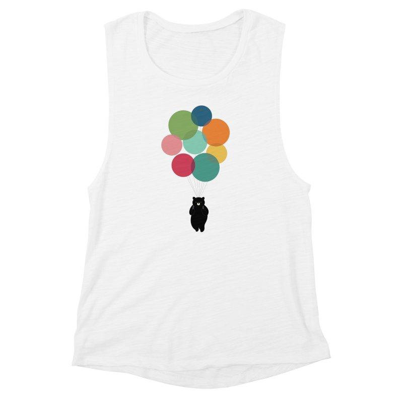 Happy Landing Women's Muscle Tank by andywestface's Artist Shop