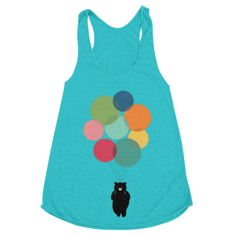 Happy Landing Women's Racerback Triblend Tank by andywestface's Artist Shop