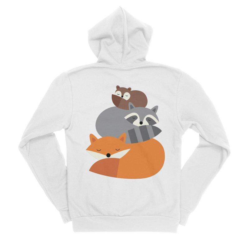 Dream Together Men's Sponge Fleece Zip-Up Hoody by andywestface's Artist Shop