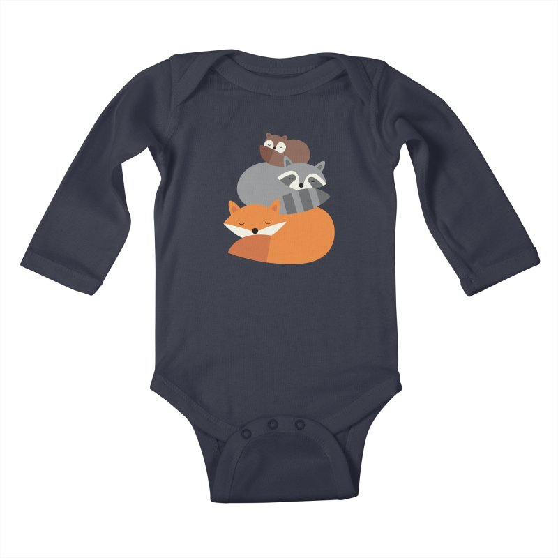 Dream Together Kids Baby Longsleeve Bodysuit by andywestface's Artist Shop