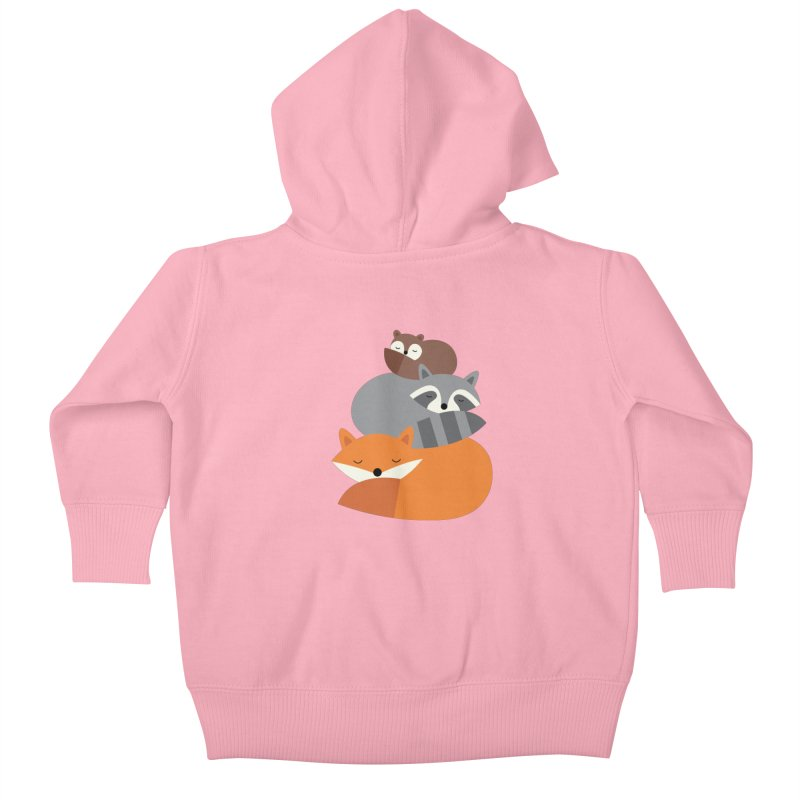 Dream Together Kids Baby Zip-Up Hoody by andywestface's Artist Shop
