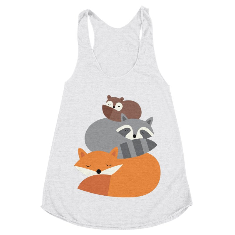 Dream Together Women's Racerback Triblend Tank by andywestface's Artist Shop