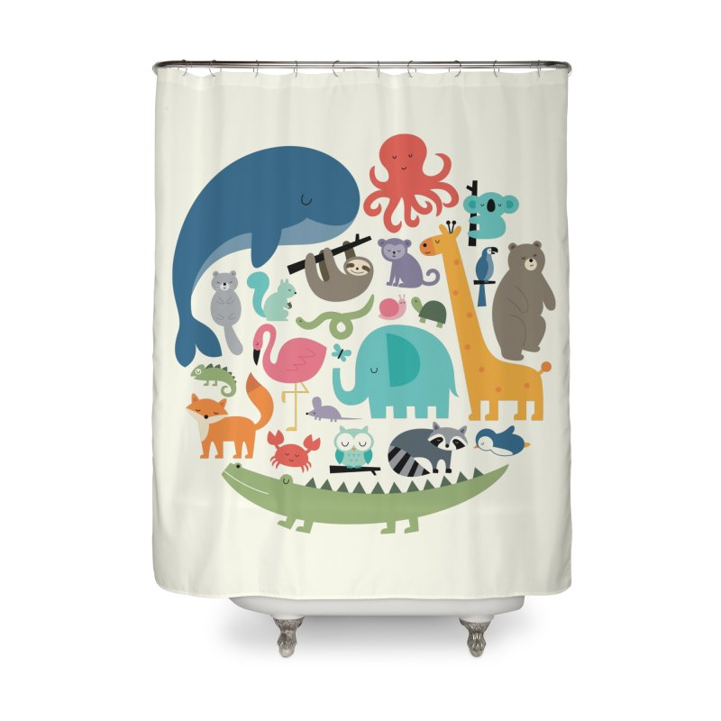 We Are One Home Shower Curtain by andywestface's Artist Shop