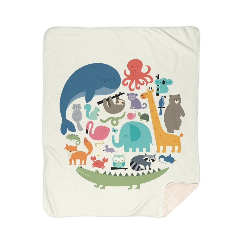 We Are One Home Sherpa Blanket Blanket by andywestface's Artist Shop