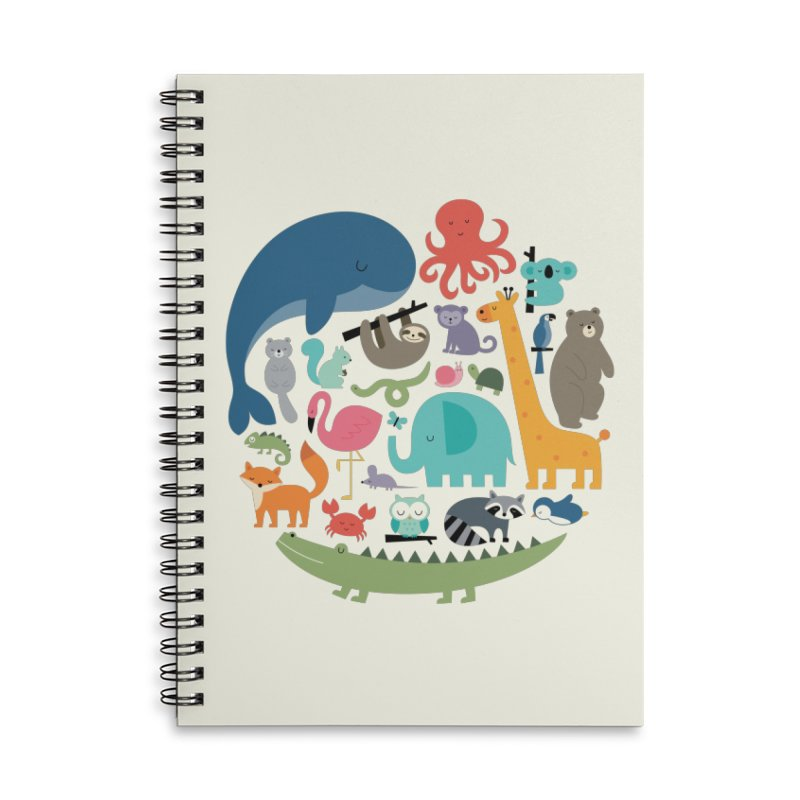 We Are One Accessories Lined Spiral Notebook by andywestface's Artist Shop