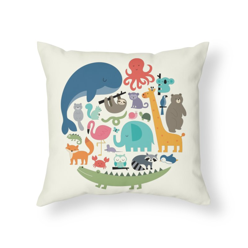 We Are One Home Throw Pillow by andywestface's Artist Shop