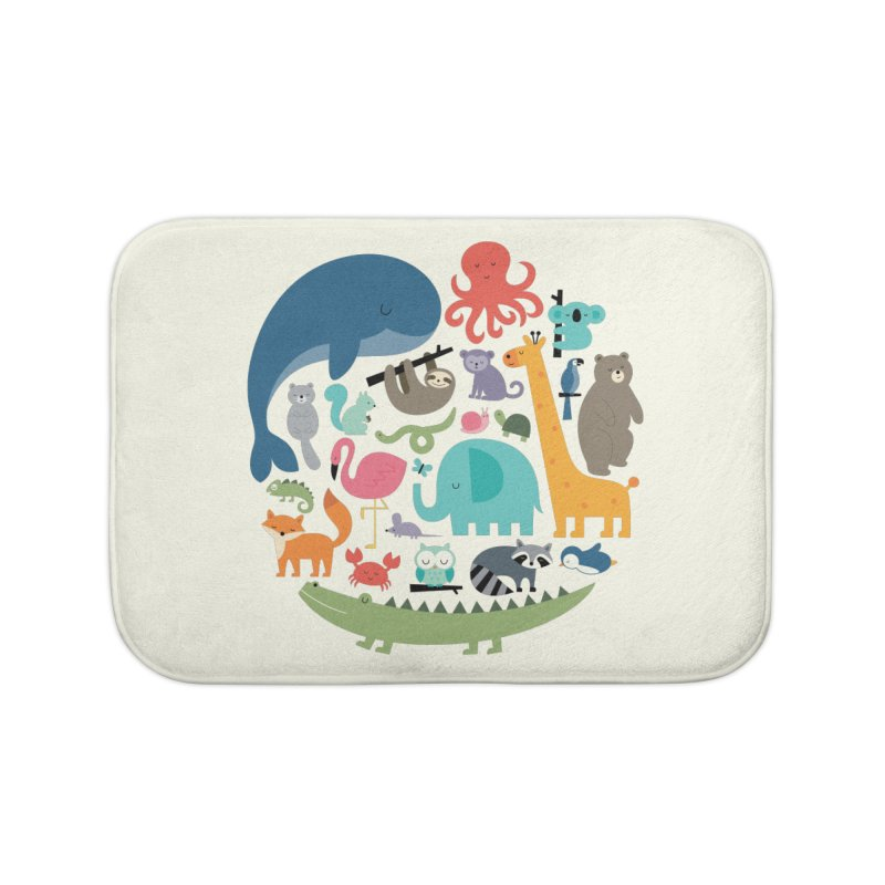We Are One Home Bath Mat by andywestface's Artist Shop