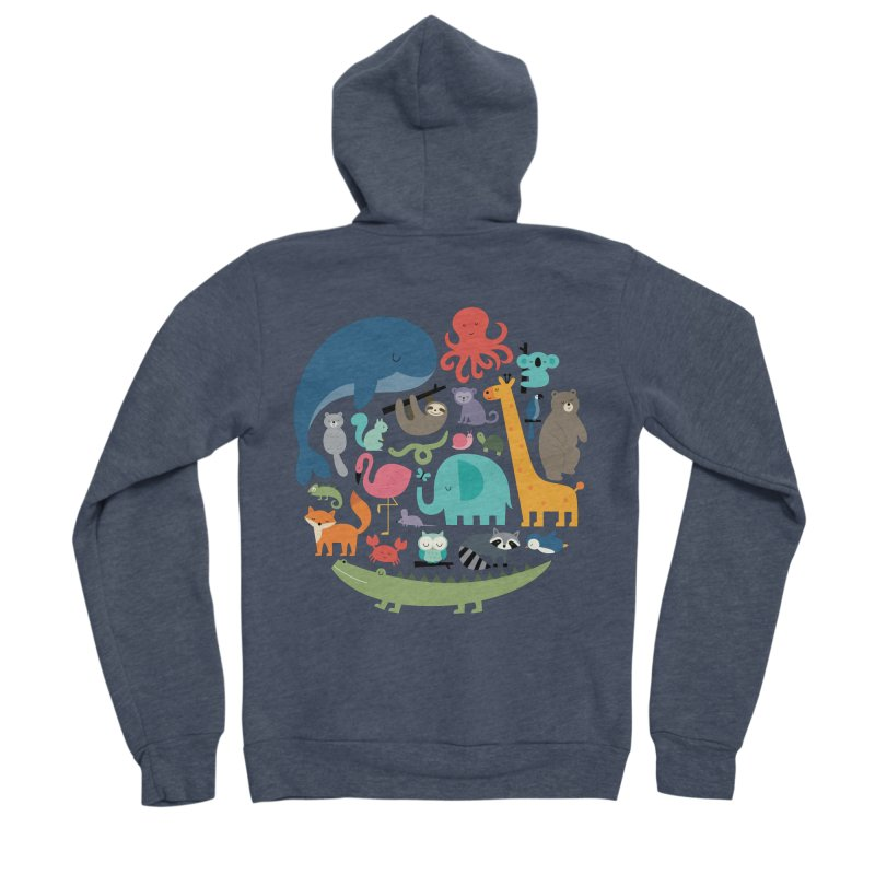 We Are One Men's Sponge Fleece Zip-Up Hoody by andywestface's Artist Shop