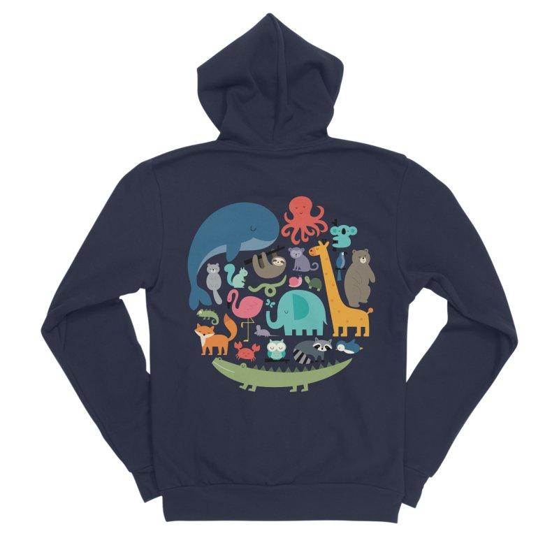 We Are One Men's Sponge Fleece Zip-Up Hoody by andywestface's Artist Shop