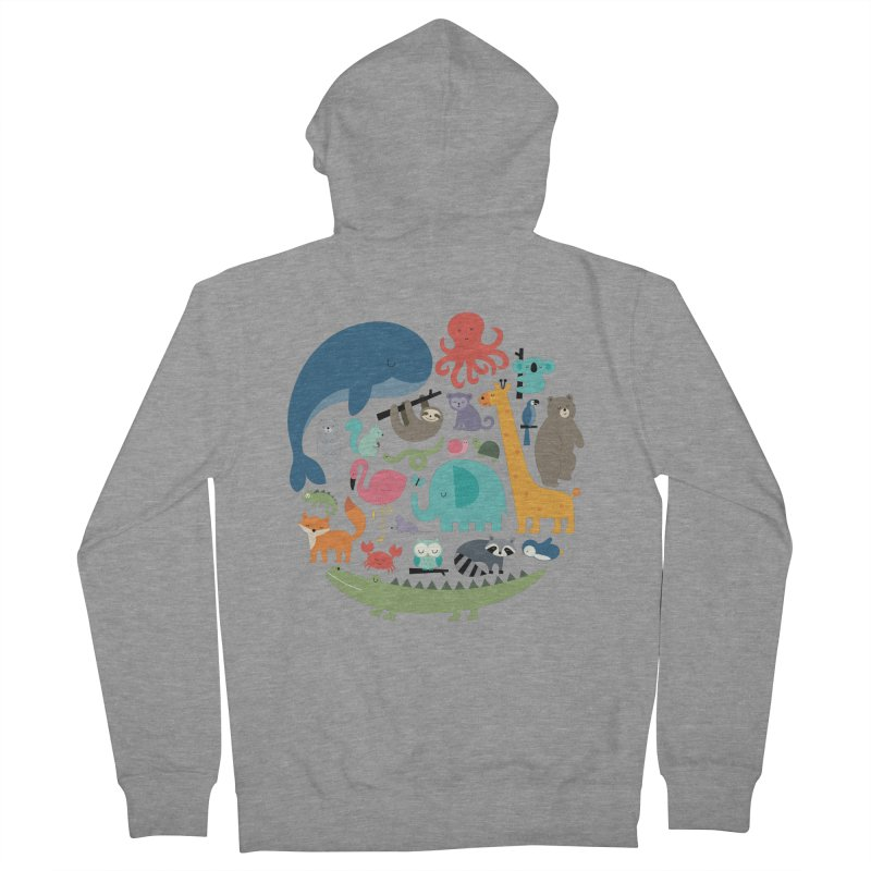 We Are One Men's French Terry Zip-Up Hoody by andywestface's Artist Shop