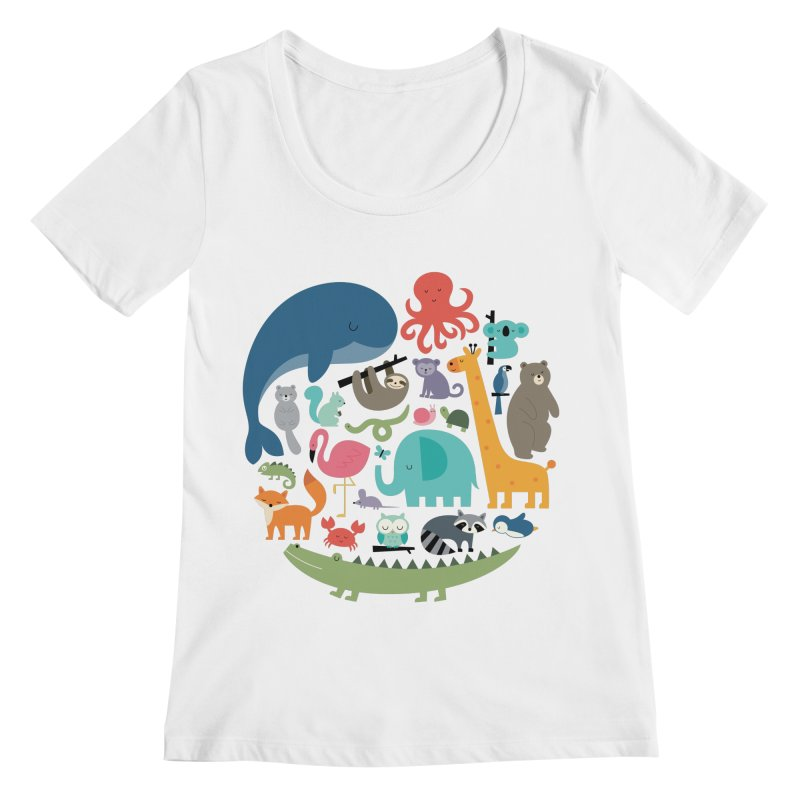 We Are One Women's Regular Scoop Neck by andywestface's Artist Shop