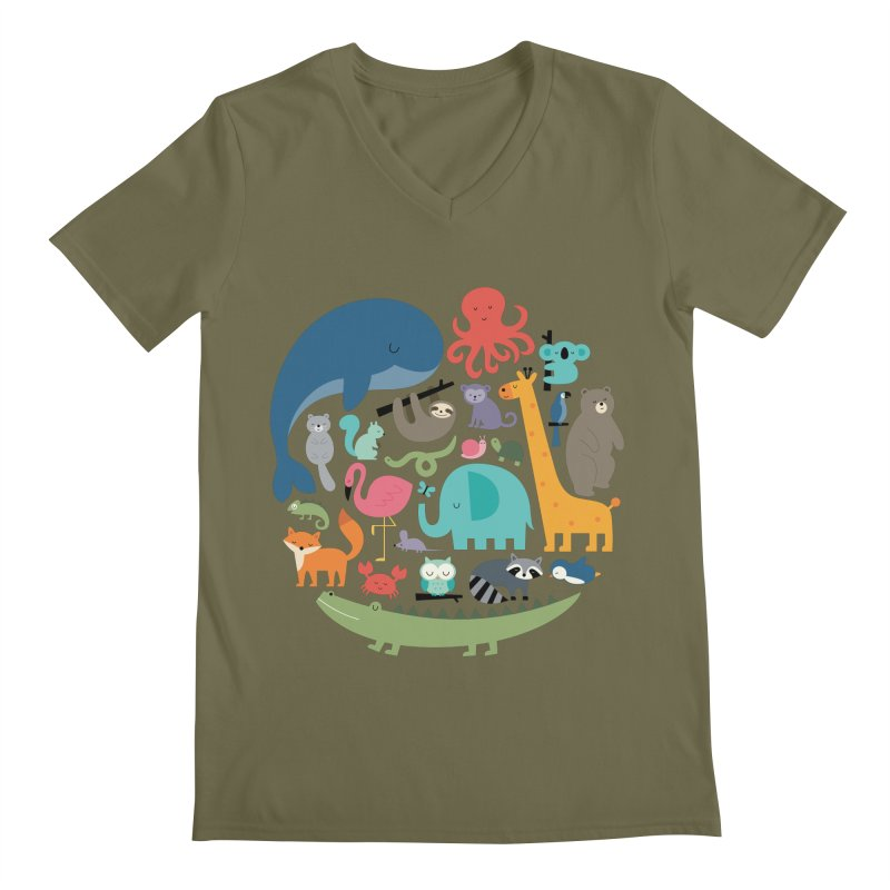 We Are One Men's Regular V-Neck by andywestface's Artist Shop