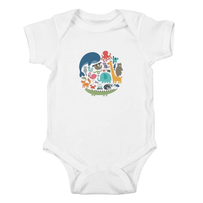 We Are One Kids Baby Bodysuit by andywestface's Artist Shop