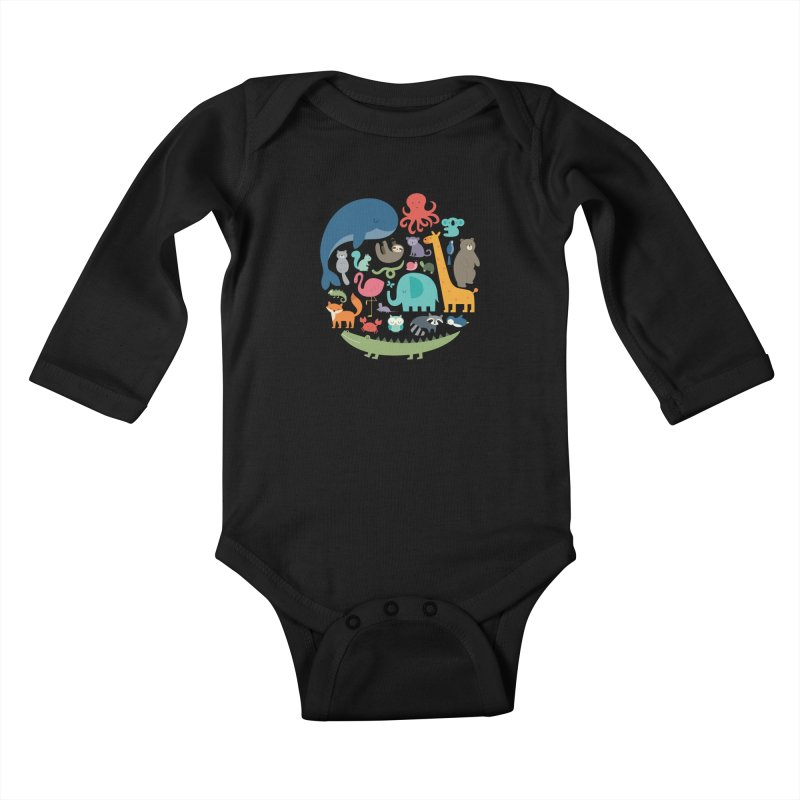 We Are One Kids Baby Longsleeve Bodysuit by andywestface's Artist Shop