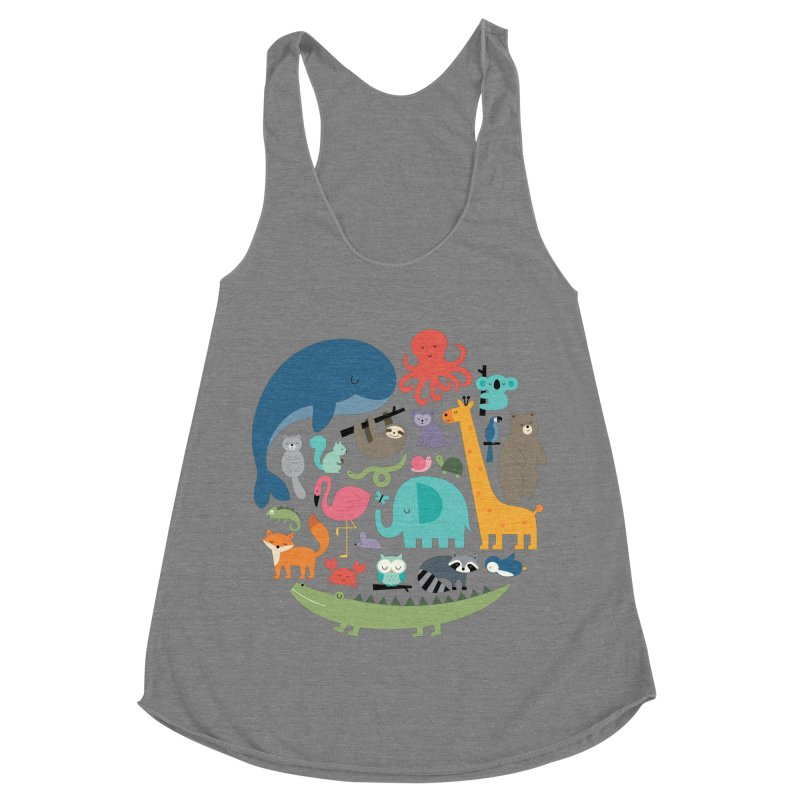 We Are One Women's Racerback Triblend Tank by andywestface's Artist Shop