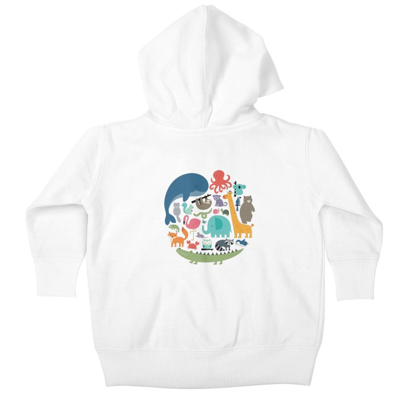 We Are One Kids Baby Zip-Up Hoody by andywestface's Artist Shop