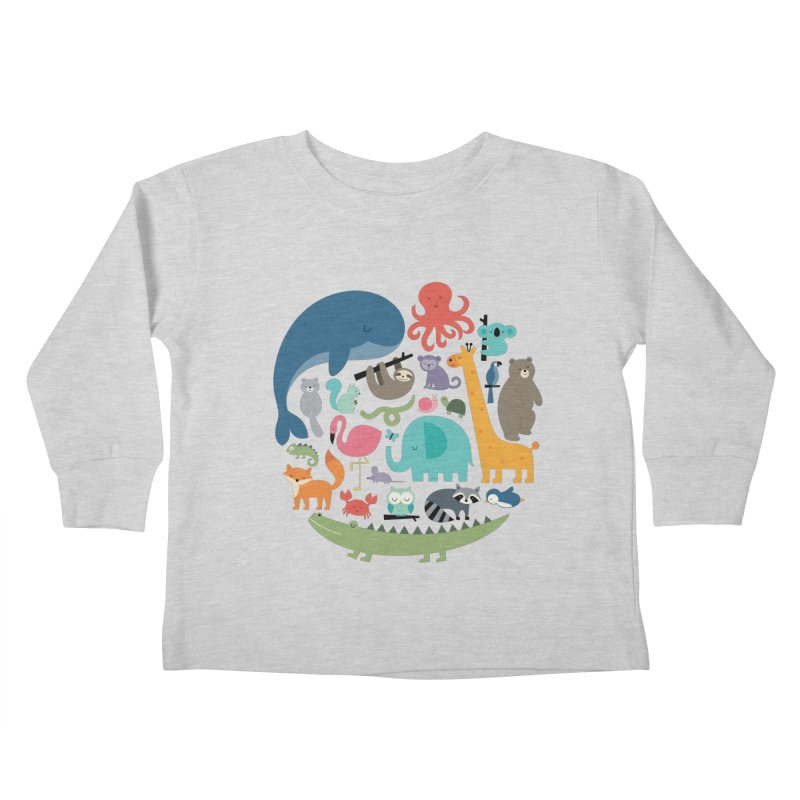 We Are One Kids Toddler Longsleeve T-Shirt by andywestface's Artist Shop