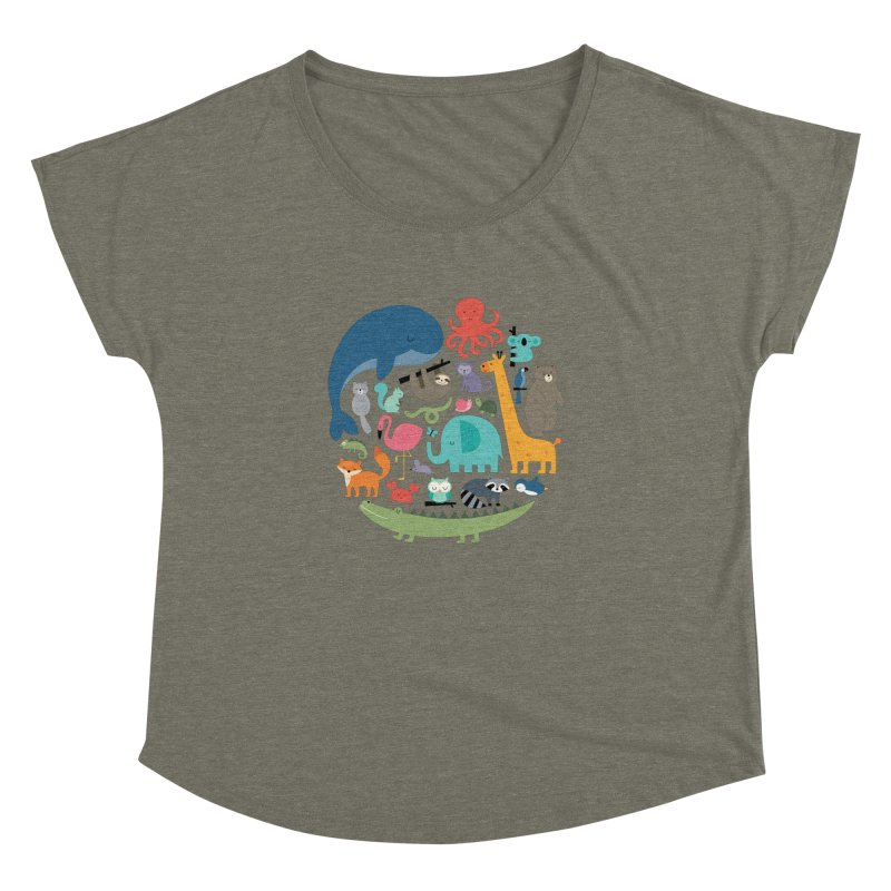 We Are One Women's Dolman Scoop Neck by andywestface's Artist Shop